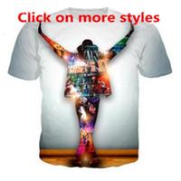 FactoryLC5 hombres rey nuevas mujeres Unisex Moda de parejas Pop Michael Jackson Funny 3D Imprimir No Cap Casual Tshirt T-shirts