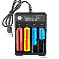 Yüksekliği Kaliteli 4 Yuvaları İşlevli USB Şarj Quad Yuvası Li-Ion Pil Gücü 4.2 V 26650 Için 10440 16340 16650 18350 18500 Şarj Edilebilir Lityum Pil DHL