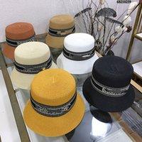 2021 Горячий стиль Лебедкая соломенная соломенная шляпа Top Hat Детали контроль Простые и щедрые Джокер Одиночные продукты вне улицы Предпочтительную новую шляпу Тип супер красивый