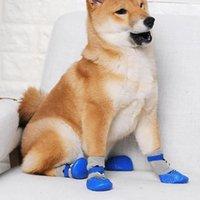 أحذية الحيوانات الأليفة 4 قطعة / المجموعة في الهواء الطلق داخلي المضادة للانزلاق سيليكون وحيد الكلب جرو القط أحذية الجوارب لوازم الملابس
