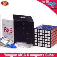 Newset Yongjun MGC 6X6 المغناطيسي ماجيك مكعب YJ MGC 6X6X6 سرعة مكعب مسابقة ألعاب تعليمية للأطفال ماجيكو كوبو