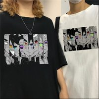 Kimetsu Womens T-shirts No Yaiba Demon Slayer Shirt Frauen Grafik Top Tees Japanische Anime Harajuku Kawaii Streetwear Punk