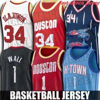 Retroceso Hakeem 34 Olajuwon Jersey John 1 Wall Jerseys HoustonCohetesJersey