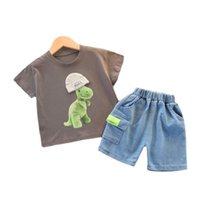 Kids Tracksuits Summer Baby Girls Clothes Children Boys Cute Cartoon Casual T-Shirt Shorts 2Pcs Sets Toddler Fashion Costume Clothing Sets