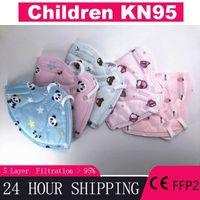 3-13 лет мультфильмы 5 слоев KN95 маска малыша малыша маски мальчики для детей KN-95 детей FFP2 маска безопасности защитные средства FFP3
