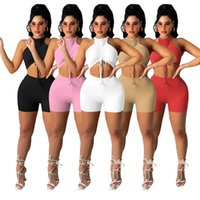 Summer Women jogging suits plus size 2XL outfits solid color tracksuits sleeveless tank top+short pants two pieces set sportswear casual black sweatsuits 4863