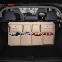 Car Organizer LEEPEE Accessories Trunk Storage Bag Nets PU Leather Rear Seat Multi Hanging Pocket Auto SUV MPV Hatchback Universal