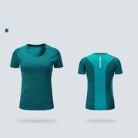 2021 Чистая красная футболка быстросадующая одежда Лето с короткими рукавами Круглая шейка бегущая мужская Женская оптовая торговля на открытом воздухе на заказ любая печать 6905