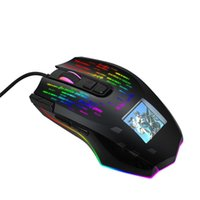 الفئران J500 الألعاب ماوس السلكية 10000 DPI الاستشعار البصرية RGB الخلفية شخصية إعداد صورة شخصية 9 أزرار قابلة للبرمجة لاعب الكمبيوتر