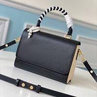 حقائب نسائية مصممي مصممي حقائب اليد مع صندوق مصنوع من جلد طبيعي، عصرية وبسيطة