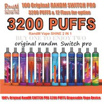 100% originale RANDM Switch Pro E-sigarette monouso E-sigarette 3200 sbuffi rm 2in1 penna vape colorata luce a led 1100mAh batteria ricaricabile 8ml Vapor portatile precompilato