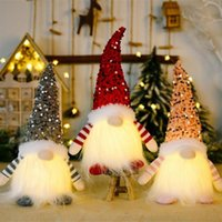 Christmas Gnome Plush Glowing Toys Home Xmas Decoration New Year Bling Toy Christma Gifts Kids Santa Claus Snowman Ornament
