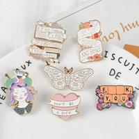 공예 소녀 배너 에나멜 핀 배지 키보드 나비 브로치 가방 데님 셔츠 옷깃 핀 낭만적 인 꽃 보석 선물 945 Q2
