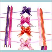 Wrap wydarzenie świąteczne dostawy Home Garden1dot8 * 35cm Pull Bows Wstążki Kwiat Prezent Opakowanie Motyl Projekt Wedding Party Decoration Pullbow