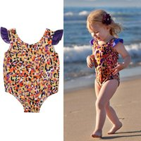 One-Pieces 2021 Toddler Kids Baby Girls Leopard Bikini One-Piece Swimwear Swimsuit Beachwear 1-5Y Maillot De Bain