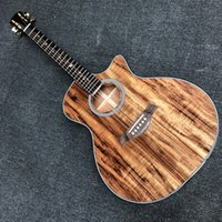 Alle Koa Wood 24 Folk Akustikgitarre 41 Zoll Cutaway Body Gitare Acoustique Baum des Lebens Griffbrett Inlays