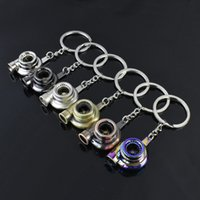 Creative gift accessories turbocharger metal keychain advertising waist key ring chain pendant