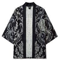 Ethnic Clothing Kimono Pants Set Cardigan Cosplay Shirt Women Yukata Streetwear Men Traditional Flowers Haori Japanese Samurai Clothes