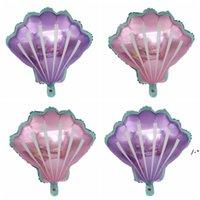 Princesa Crown Shell Folha Balões Rosa Azul Partido Suprimentos Casamento Bebê Chuveiro Decoração Crianças Balão de Aniversário HHB8717