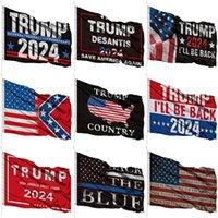 3*5ft Trump 2024 Banner Flags Custom Flag 90*150cm US Trump Halloween Customize Flags XD24797
