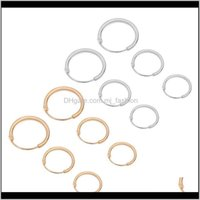 & Hie Jewelry3 Pairs 3 Sizes Minimalism Simple Round Circle Hoop Earrings Small Ear Studs For Women Girls Fashion Jewelry Drop Delivery 2021