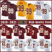 99 Junge Junge Football Jersey 21 Sean Taylor 17 Terry Mclaurin 7 Dwayne Haskins 20 Landon Collins Hohe Qualität genähte Trikots