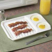 Kahvaltı için Pişirme Tepsi Ocak Mutfak Pişirme Araçları Aksesuarları Pişirme Yemekleri Tavalar 1 ADET Mutfak Mikrodalga Yumurta Pastırma