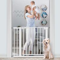Otomatik Kapat Bebek Kapısı Ekstra Geniş Çocuk Güvenliği Kapıları, Yapılandırılabilir Yürüyüşü Merdivenler için Köpek Bariyeri, Mutfak, Kapı Geçidi, Oyun Alanı