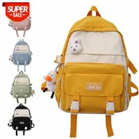 ins school bag female Japanese simple girl college style student backpack can logo #sd2A