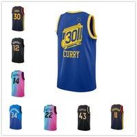Баскетбольные трикотажные изделия 24 Брайант Белое городское издание Blue 30 Curry Royal Classic Edition Robback Best Sports 22 Butler Blue Pick City Edition Местный Интернет-магазин 2021