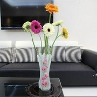 Ny kreativ klart pvc plast vaser vattenpåse miljövänlig vikbar blomma vas återanvändbar hem bröllopsfest dekoration ewd6739