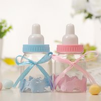 48Pcs Plastic Gift Box Feeding Bottle Candy Favor Holders Kids Baby Shower Party Decorations