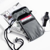 Card Holders Waterproof RFID Nylon Travel Document Storage Bag Passport Neck Wallet Money Pouch