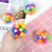 Sensory Fingers toys 6cm color bead ball TPR soft rubber decompression decompression toy kneading Autism Anxiety Stress Reliever H33HRJ7