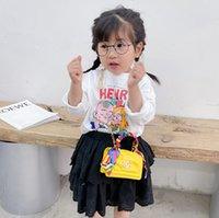 Filles de luxe foulards foulards sacs à main designeur enfants boucles de métaux enfants sacs enfants lot carré unique sac à bandoulière dame mini purèse A6286