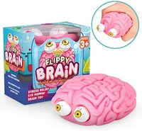 Fidget Toys Fun Halloween Vent Brain Brain Squishy Eye Popping Squeeze Estrés Relieve Ball Regalo para niños y niñas DHL