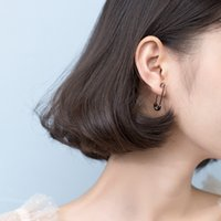 TrustDavis 1 Pair Kağıt Klip Şekli Kulak Toka Küpe Yaratıcı Yeni Tasarım Lady Madam Kadınlar 925 Ayar Gümüş Takı 1634 V2