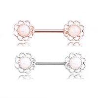 حلقات الحلمة الفولاذ المقاوم للصدأ الجسم ثقب المجوهرات للنساء