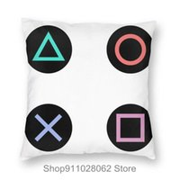 Cushion Decorative Pillow Retro Splash Design PS Gaming Vintage PS5 PS2 PS3 PS4 Xbox Game Play Throw Pillows Covers Cases Velvet Pillowcase