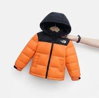 الخريف / الشتاء أسفل معطف الأطفال مصمم سترة مقنعين بلون أبلى ملابس دافئة للبنين والبنات