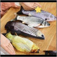 Elektronik Anahtarı Dalış Balıklar Simülasyon Tease Kedi Bebek Evcil Oyuncaklar Peluş Cattoy Elektrikli Balık Kırmızı Yüksek Kalite 10 5yy M2 IAIDM MSIDH
