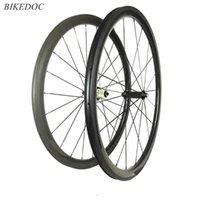 Bike Wheels BikeDoc 38mm Altura 25mm Largura Rodoviária de Carbono Powerway R36 Hub Bicicleta