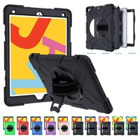 360 Rotation Heavy Duty Shockproof Stand Tablet PC Cases For iPad 10.2 Pro 11 Air 4th 10.5 9.7 Mini 5 Full Cover Anti Drop Defender Case