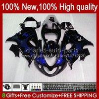 Kit de cuerpo para Suzuki SRAD TL1000 R TL-1000 TL 1000 R TL1000R 98-03 Bodywork 19HC.140 Llamas de azul oscuro TL-1000R 1998 1999 2000 2001 2002 2003 TL 1000R 98 99 00 01 02 03 Carretera OEM