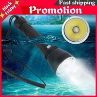 Flashlights Torches LED Yellow White Light 4000 Lumens Diving 26650 Torch Underwater 100M Xhp70.2 Spearfishing Lamp