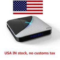 Schip uit USA Warehouse A95X F3 AIR 8K RGB Light TV Box AMLOGIC S905X3 Android 9.0 4G 32G PLEX SERVER MEDIA Player