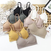 Bustiers & Corsets Women Wireless Padded Tube Top One-piece Solid Color Bralette Backless Nonadjusted Straps Crop 2021