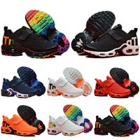 Nike Mercurial Air Max Plus Tn 2019 hot Infant Kids Tn Scarpe da corsa Air Grey White Black Scarpe sportive per bambini Toddler scarpe da design Plus Rainbow Boy Girl Tns Sneaker