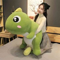 55-140cm 큰 크기 긴 사랑스러운 공룡 플러시 장난감 소프트 만화 동물 공룡 인형 베개 아이 소녀 생일 선물 210729