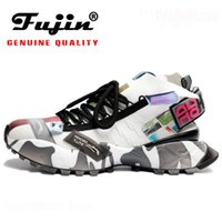 Fujin Véritages Hommes Femmes Sneakers Plate-forme Respirant Femmes Chaussures Femmes Chaussures Chunky Ins style Chaussette à tricoter
